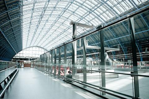 Eurostar terminal in London