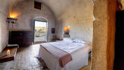 A Superior Room in Sextantio Le Grotte della Civita in Matera