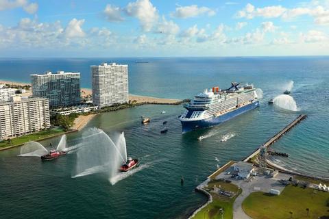 Port Everglades Cruise Schedule 2020.Celebrity Edge Docks In Port Everglades Terminal 25