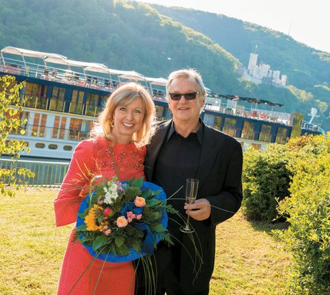 Rudi Schreiner, president and co-owner, Kristin Karst, executive vice president and co-owner, AmaWaterways