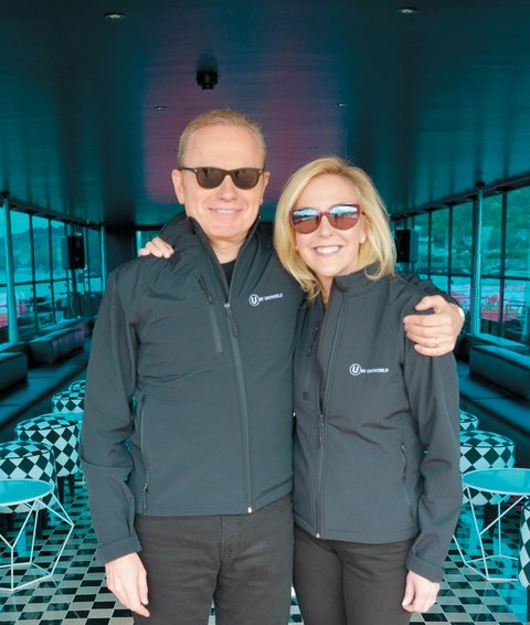 Brett Tollman, chief executive, The Travel Corporation and Ellen Bettridge, president and CEO, Uniworld Boutique River Cruise Collection.