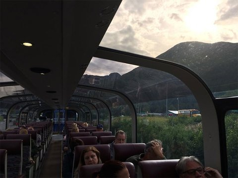 The new dome cars in Alaska Railroad's GoldStar service offer panoramic views