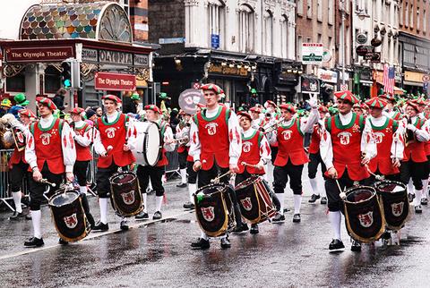St Patrick's Day Parade Dublin Ireland