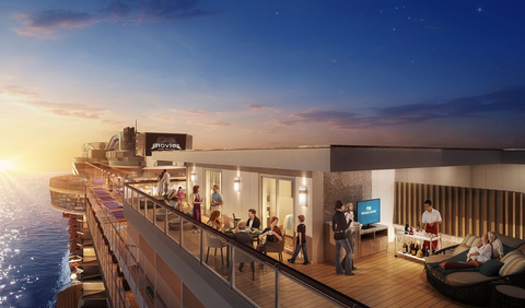 A rendering of the new Sky Suites