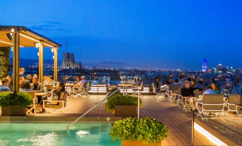Majestic Hotel Spa Barcelona Debuts Renovated Rooftop Bar