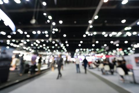 blurred tradeshow