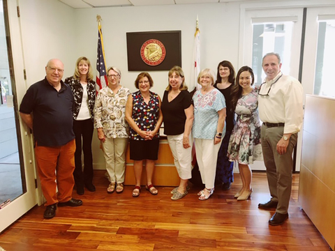 advisors visiting California district rep