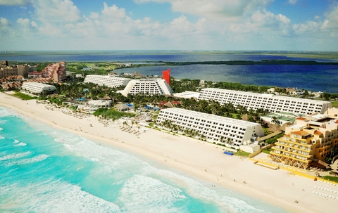 Aerial View of the Grand Oasis Cancun Resort