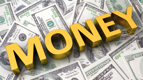 money on the background of $100 bills