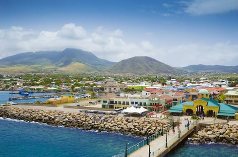 Port Zante in Basseterre town, St. Kitts And Nevis