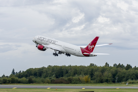 Virgin Atlantic Plane Taking Off