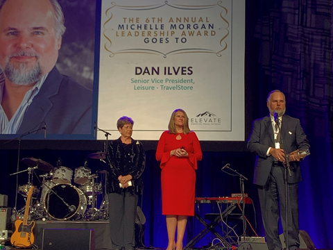 Dan Ilves of TravelStore receives Michelle Morgan Leadership Award