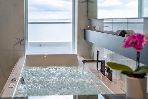 The bathtub in the Scenic Eclipse Spa Suite