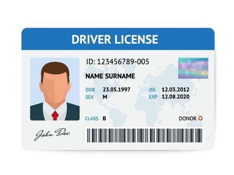 drivers license concept