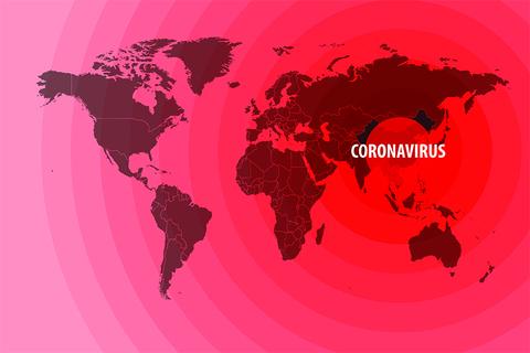 Coronavirus map graphic