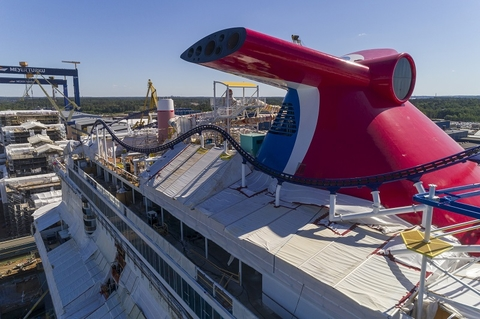 Carnival Cruise Line Mardi Gras Under Construction at Finland's Meyer Turku shipyard. Photo by Carnival Cruise Line.
