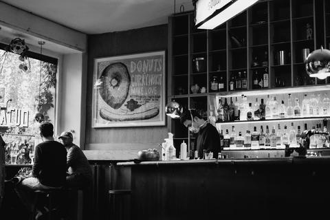 masked bartender
