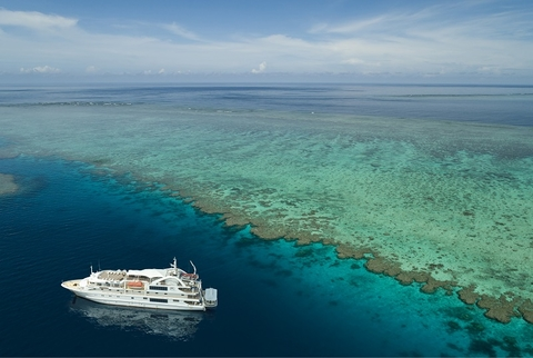 Coral Expeditions' Coral Discoverer Restarts Cruising in the Great Barrier Reef.