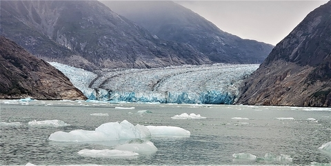 Alaska Endicott Arm's Dawes Glacier Photo by Susan J. Young Editorial Use Only