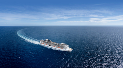 Image of MSC Virtuosa sailing in the sea