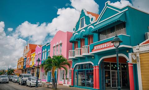 Downtown Kralendijk, the capitol of Bonaire