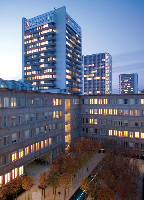 Novartis building with logo
