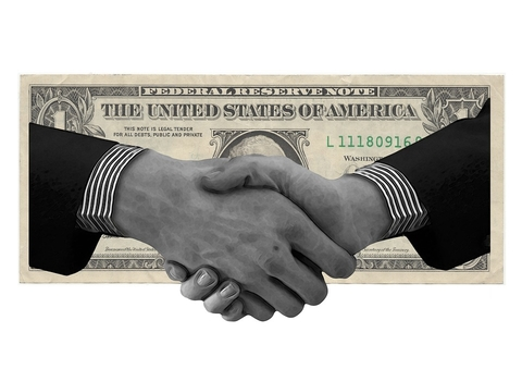 Money Handshake
