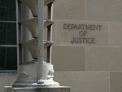 Justice Department building inscription