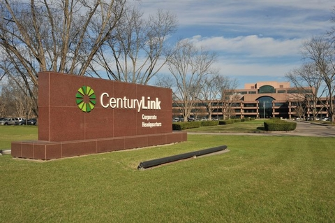 CenturyLink sign outside of a large office building