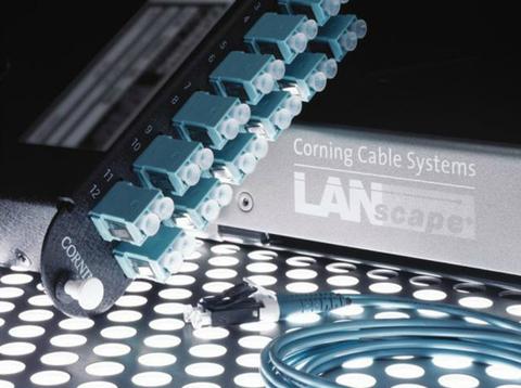 Fiber going into a LAN box