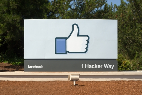 Facebook HQ sign