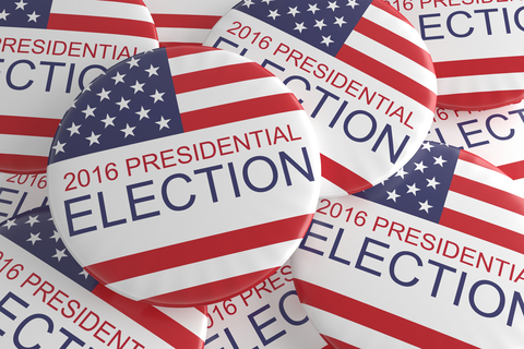 Presidential election 2016 buttons