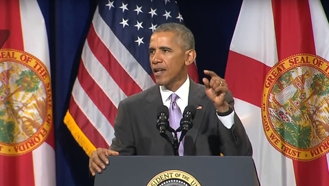 Barack Obama gives ACA speech