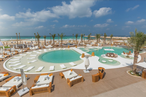 The cool pool of the week nikki beach resort spa dubai for Pool and spa show dubai