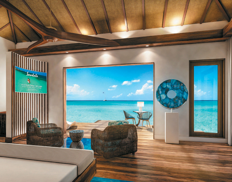 Sandals Royal Caribbean, Montego Bay has five over-the-water villas.