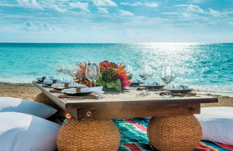Andaz Mayakoba Resort Riviera Maya is situated moments from a white-sand beach that faces the Caribbean Sea.