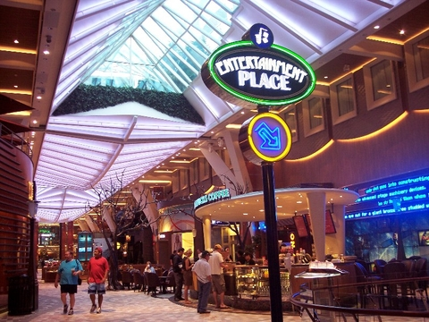 Allure of the Seas Promenade Editorial Use Only Copyright Susan J Young