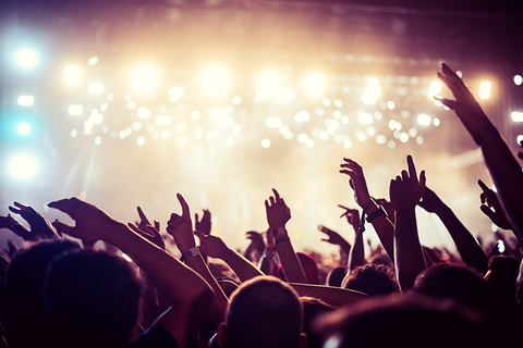 music show crowd - bernardbodo/iStock/Getty Images Plus/Getty Images