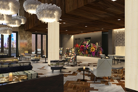 GKA Interiors Group Designs DoubleTrees Magnolia Restaurant And Lovage Rooftop Indoor Lounge For Addison Hospitality