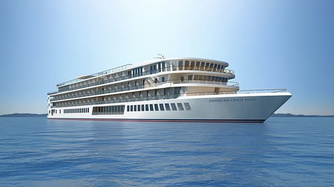 A rendering of one of American Cruise Lines' new fleet of modern U.S. riverboats