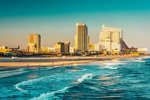 Atlantic City overlooking the ocean
