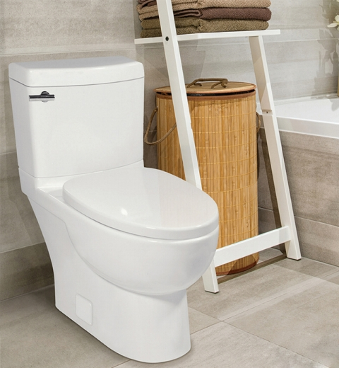 the malibu ii 10inch roughin toilet has a bowl and fully skirted profile