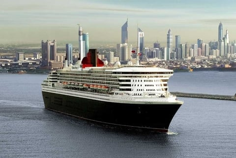 Cunard Queen Mary 2 Dubai UAE Editorial Use Only Photo by Cunard Line