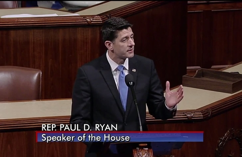 Paul Ryan speaking on House floor