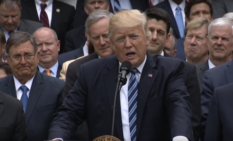 Donald Trump speaking