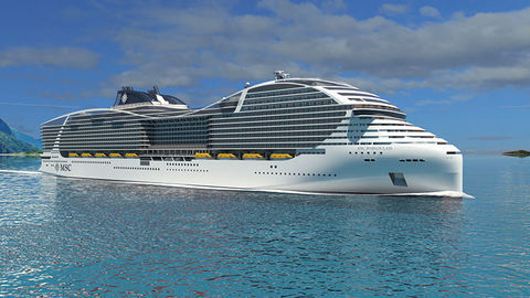 A rendering of MSC Cruises' new World Class of cruise ships