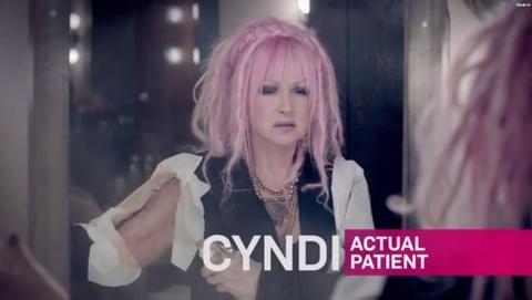 Cyndi Lauper Cosentyx