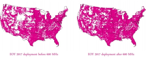 TMobile Confirms Speedy MHz Rollout For Covering - T mobile coverage map us