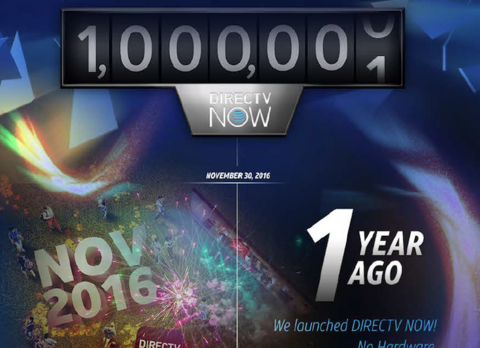 DirecTV Now tops 1 million subscribers