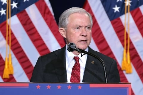Georgetown University Students Protest Jeff Sessions Speech